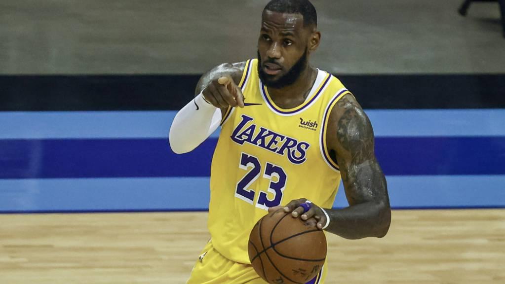 LeBron James war mit 26 Punkten einmal mehr bester Werfer der Lakers