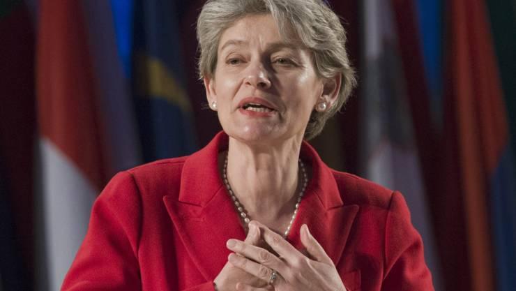 """UNESCO-Generaldirektorin Irina Bokova konnte am Dienstag verkünden, dass Italien künftig """"Kultur-Blauhelme"""" in Krisengebiete entsendet, die Kulturgüter schützen und restaurieren (Archiv)."""