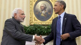 Der indische Premier Modi bei US-Präsident Obama im Weissen Haus