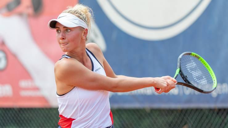 Svenja Ochsner (im Bild) unterlag im Doppel zusammen mit Valentina Ryser.