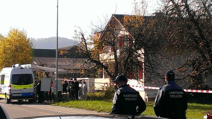 In diesem Haus an der Landstrasse in Gipf-Oberfrick kam es zum Tötungsdelikt (4. November 2015).