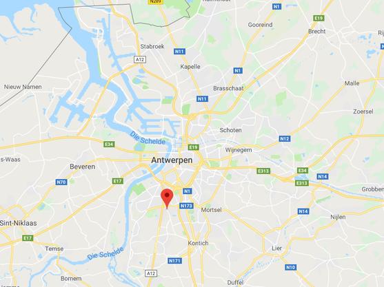 Kartenausschnitt von Antwerpen.