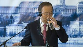 Ban Ki Moon am Dienstag am Wassergipfel in Budapest