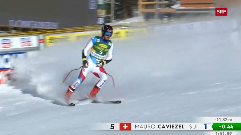 Mauro Caviezel fährt bei Super-G aufs Podest