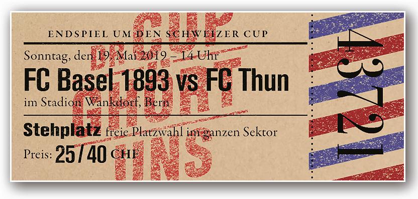 Mit einem solchen Fantasieticket wollen die Basler Fans am Cupfinal den Eintritt verlangen.