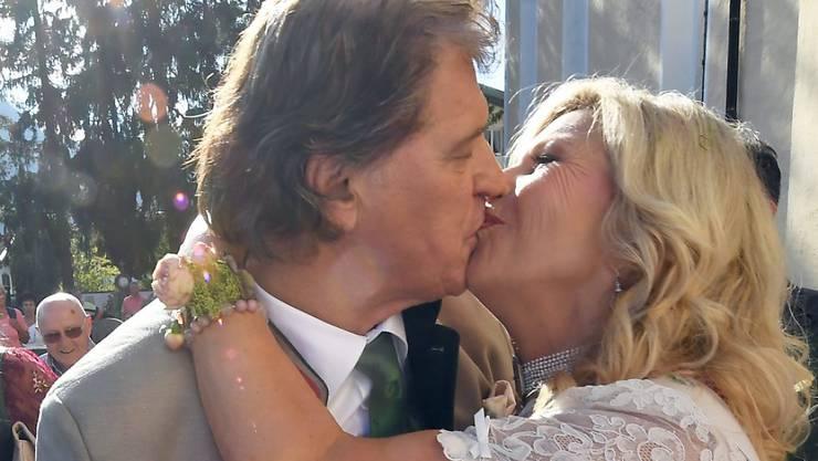 Das Schlagerduo Marianne und Michael am letzten Donnerstag bei der kirchlichen Trauung. Drei Tage später haben sie ihren Rücktritt bekanntgegeben.