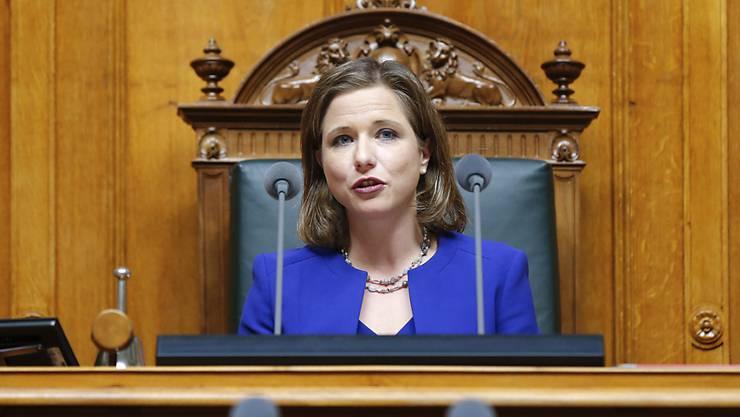Nationalratspräsidentin Christa Markwalder fordert von ihren Ratskollegen Respekt. (Archivbild)