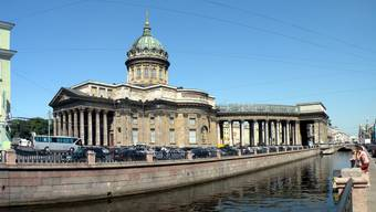 Hier hätte der Anschlag verübt werden sollen: die Kasaner Kathedrale im Zentrum von St. Petersburg.