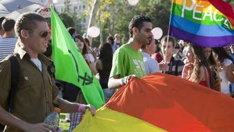 Teilnehmer der Gay Pride in Jerusalem