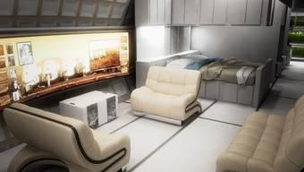 Wohnen im All: Solche Mars-Container sollen den Astronauten ab 2023 zur Verfügung stehen. Bryan Versteeg/MARS ONE