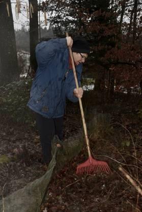 Marianna Suter bei der Arbeit