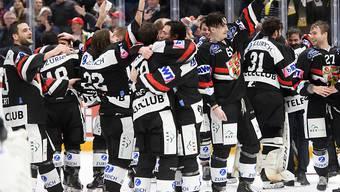 So jubelte der HC Ajoie am 2. Februar nach dem Sieg im Cupfinal über den HC Davos