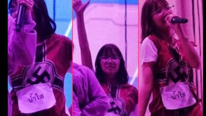 Die 19-jährige BNK48-Sängerin hatte ein T-Shirt getragen, auf dem vorn ganz gross das Nazi-Symbol prangte.