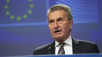 """""""Dies ist der bestmögliche Deal"""": EU-Haushaltskommissar Günther Oettinger zum vorliegenden Brexit-Vertrag. (Archivbild)"""