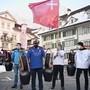 Kritiker von Corona-Massnahmen versammeln sich in Zentralschweiz.