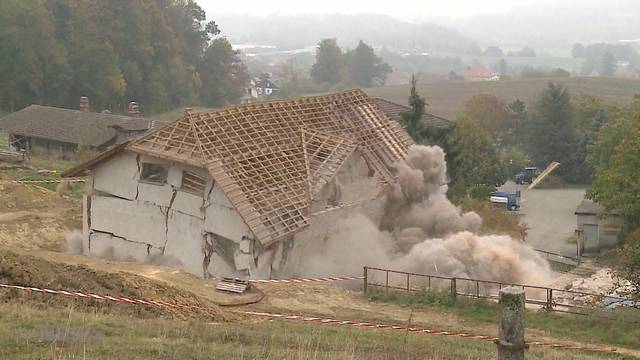 Sperrung: Die alte Mühle muss weg!