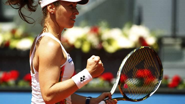Strebt in Paris ihren dritten Doppeltitel an: Martina Hingis