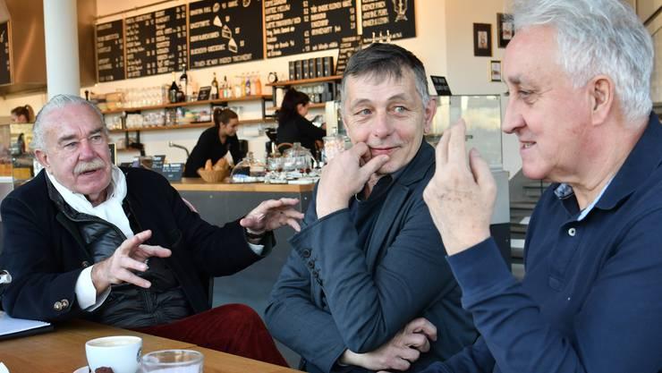 Das Gespräch fand im Coffeehouse Bloomell in Olten SüdWest statt (von links): Massimo Hauswirth, Philippe Cabane und Klaus Schmuziger.