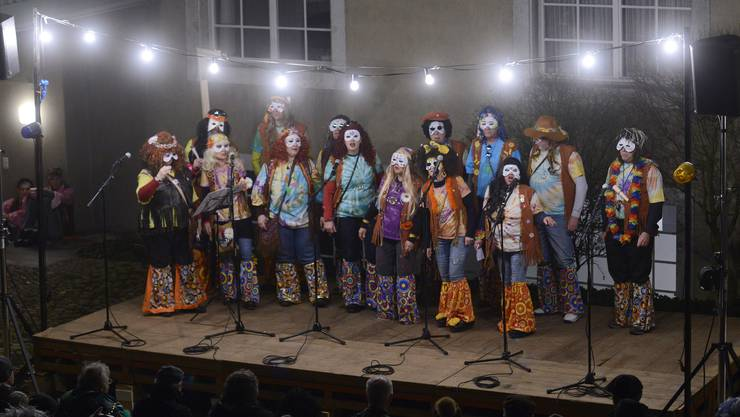 Die Schnitzelbankgruppe Voceria am Höflisingen 2020