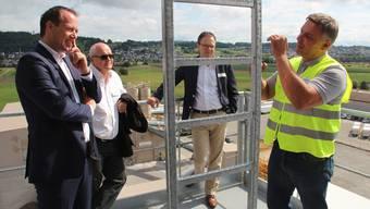 Bundesrat Johann Schneider-Ammann weihte mit der Notter-Gruppe ihre neue Asphaltmischanlage ein