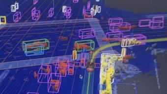 So sieht ein selbstfahrendes Google-Auto seine Umgebung - nicht zuletzt dank unzähliger Sensoren