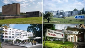 Im Kanton Aargau fallen mehrere Spitäler mit hohen Wiedereintrittswerten auf.