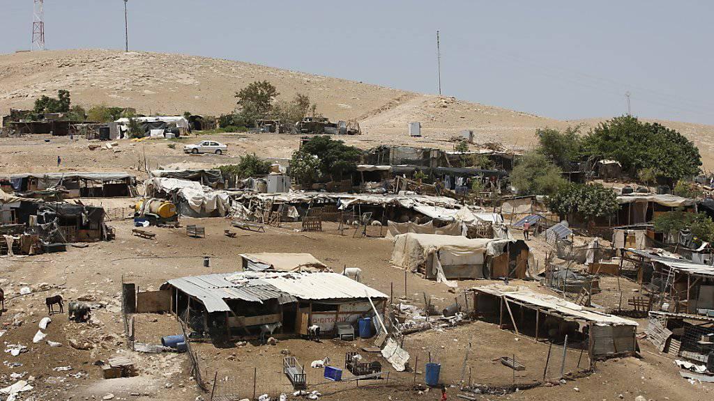 Das Beduinendorf Khan al-Ahmar zwischen Jericho and Jerusalem im Westjordanland. (Archivbild)