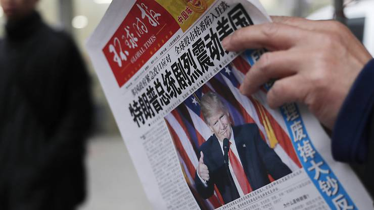 Die chinesische Führung und Medien im Land zeigen sich gar nicht erfreut über Trumps Aussagen zur Ein-China-Politik. (Archiv)