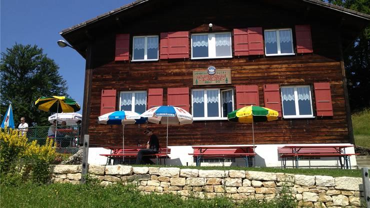 Das Naturfreundehaus auf dem Rumpel: seit 1943 dort anzutreffen.
