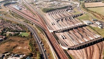 Eurotunnel-Terminal im englischen Folkestone.