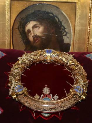 Die Krone ist eine der wichtigsten christlichen Reliquien. Sie befindet sich seit Montagabend im Pariser Rathaus.