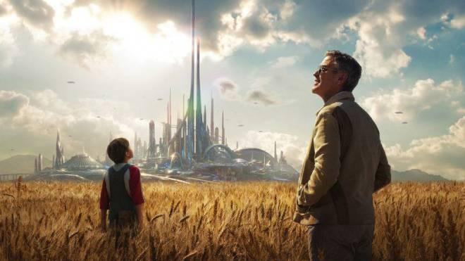 Besichtigen Tomorrowland: George Clooney mit Britt Robertson im neuen Film «A World Beyond». Foto: Keystone