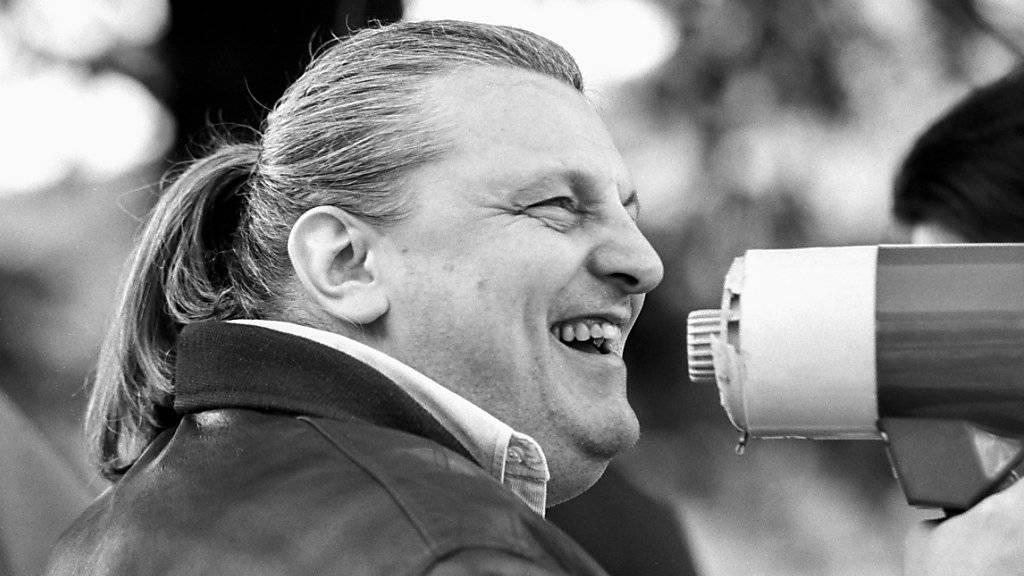 Er erlebt den 25-jährigen Geburtstag der Lega am Sonntag nicht mehr mit. Der Lega-Gründer Giuliano Bignasca verstarb 2013 im Alter von 67 Jahren. (Archivbild aus dem Jahr 1992).