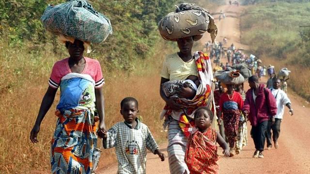 Flüchtlinge unterwegs in der Elfenbeinküste (Archiv)