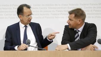 Die FDP von Präsident Philipp Müller und die SVP von Präsident Toni Brunner sind grösstenteils für Rentenalter 67.