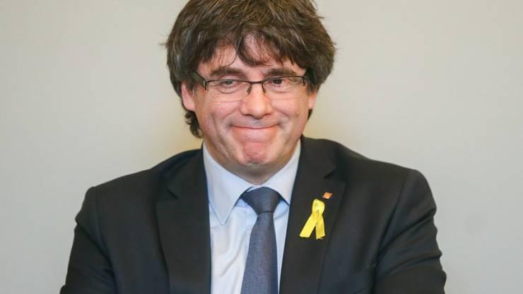 Der von Madrid abgesetzte katalanische Regionalpräsident Carles Puigdemont am Mittwoch in Brüssel - wenn Spanien so organisiert wäre wie die Schweiz, gäbe es in Katalonien kein Unabhängigkeitsproblem, ist er überzeugt.