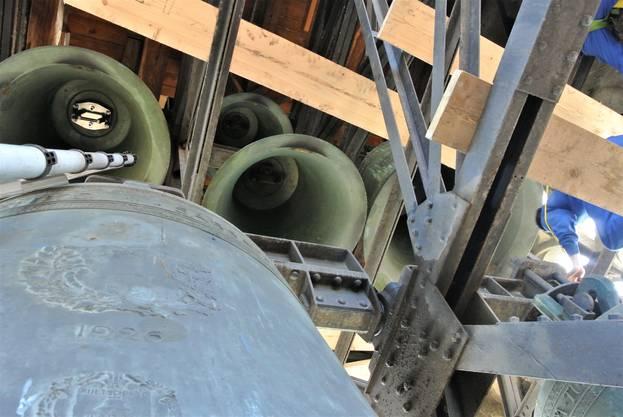 Die Glockenstube umfasst insgesamt sechs Glocken.