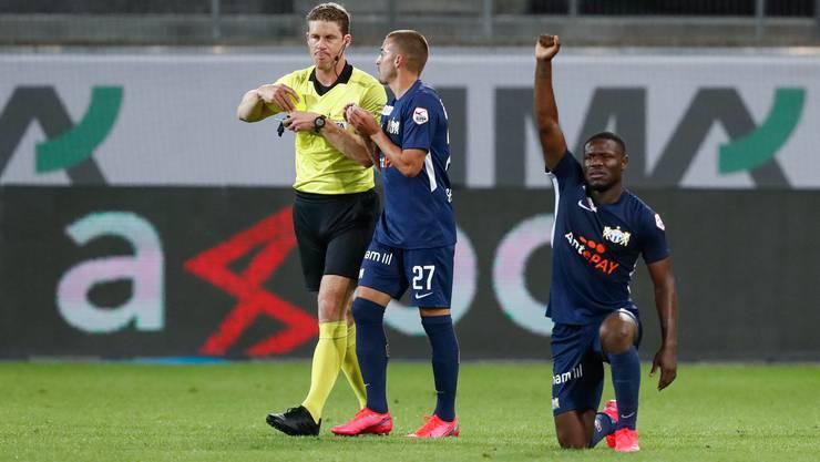 Das Rassismusopfer von St.Gallen: der Stürmer Aiyegun Tosin (rechts) vom FC Zürich.