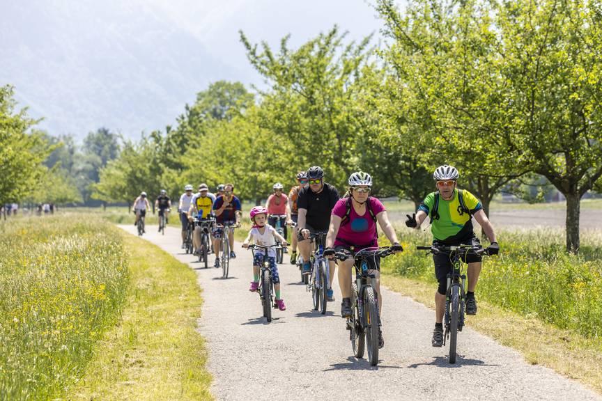 Der slowUp Werdenberg-Liechtenstein findet am 5. Mai statt. Bild: Daniel Gassner