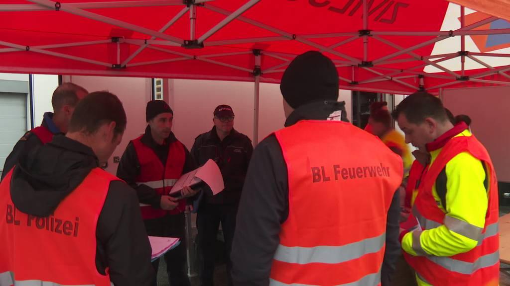 Grosseinsatz: Blaulicht-Organisationen üben in Frauenfeld