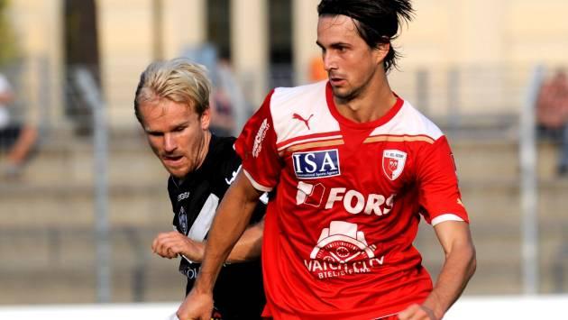 Marco Mathys besticht beim FC Biel mit einer Kombination aus elegantem Stil und effizienter Spielweise.  Karl Mathis/Keystone