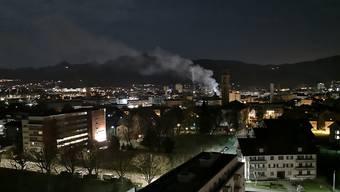 Brand an der Tannwaldstrasse.