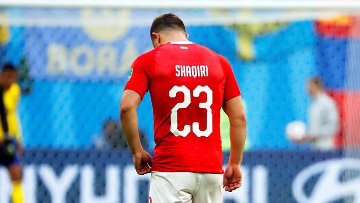 Die Enttäuschung des Achtelfinal-Outs überwinden: Xherdan Shaqiri und das Schweizer Nationalteam starten am Samstag mit der Partie gegen Island in die Zeitrechnung nach der WM 2018.Keystone