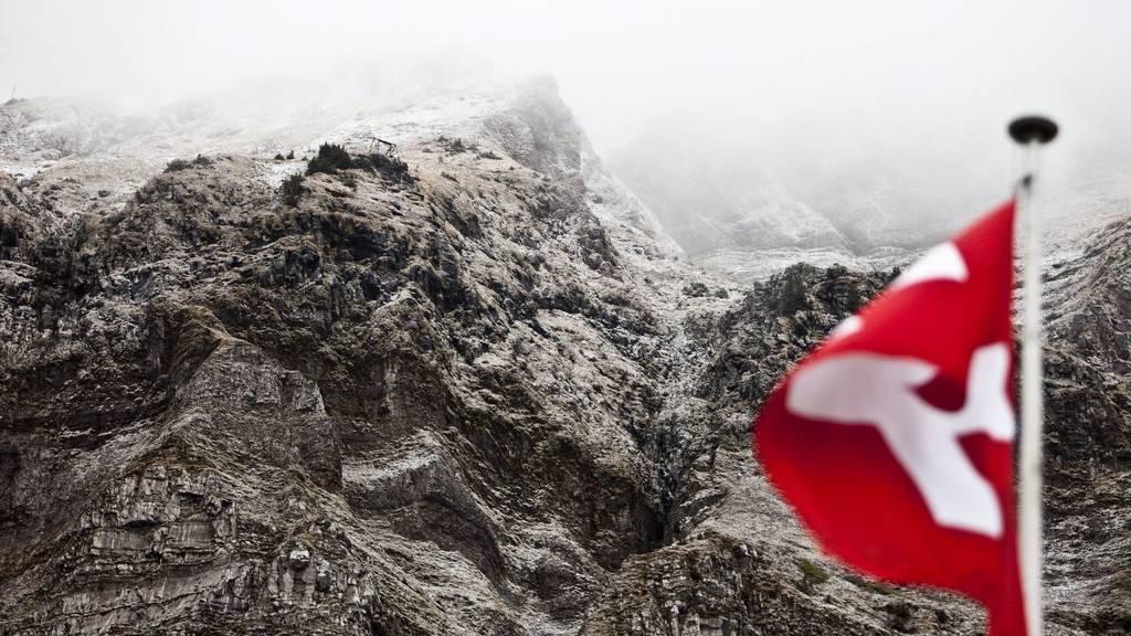 Der Säntis von der Schwägalp aus gesehen. Das Bild ist aber nicht aktuell, sondern vom Oktober 2009.