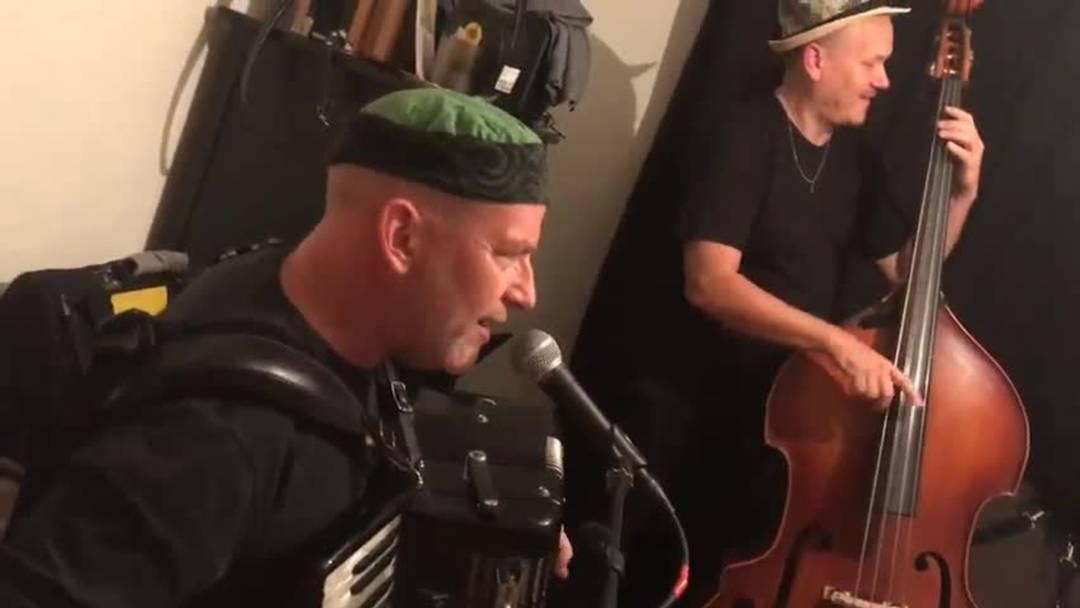 Die Solothurner Band Supersiech beim Proben für die Plattentaufe