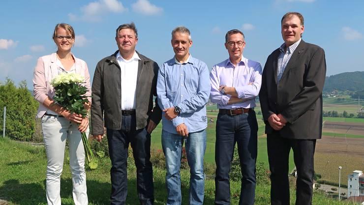 Der Gemeinderat von Reitnau (v.l.): Katrin Burgherr, Rolf Trösch, Herbert Fischer, Uwe Matthiessen und Peter Hochuli.