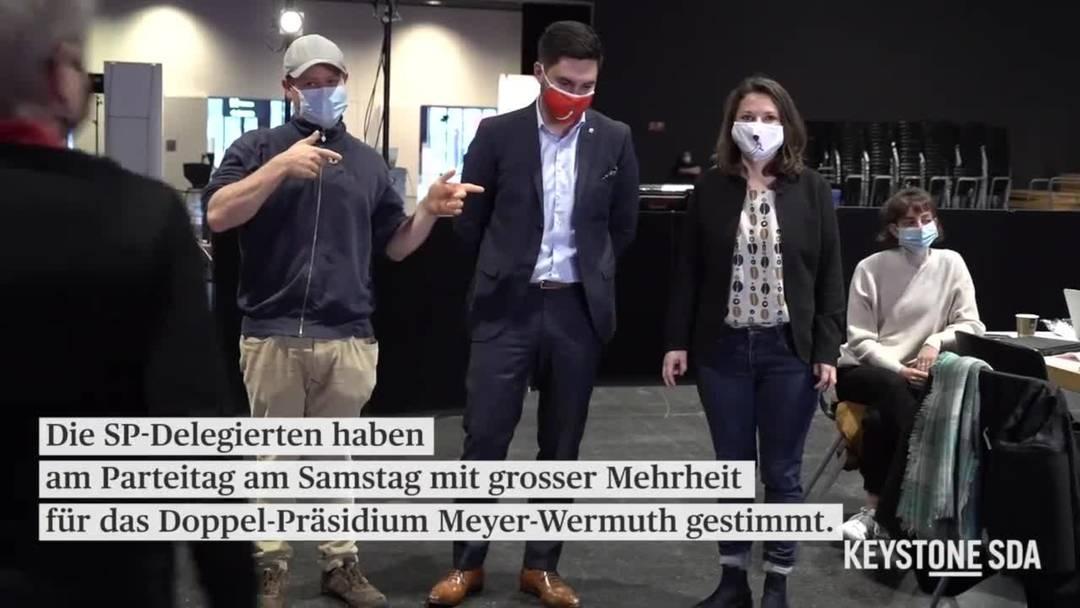 Mattea Meyer und Cédric Wermuth stellen das neue SP-Präsidium