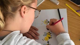 Die Kinder konnten auch Bienen zeichnen und an einem Malwettbewerb mitmachen