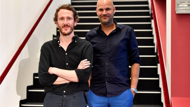 Die neuen Intendanten am Zürcher Schauspielhaus: Benjamin von Blomberg (links) und Nicolas Stemann. Keystone