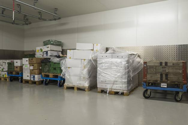 In den Kühlräumen können nun grosse Mengen Nahrung gelagert werden.